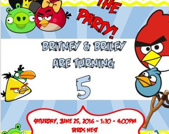 Angry Bird Invitation