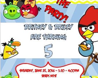Angry Bird Invitation