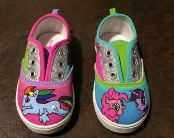 My Little Pony Painted Shoes