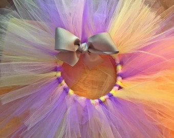 pink , yellow , and purple tutu ,comes with headband