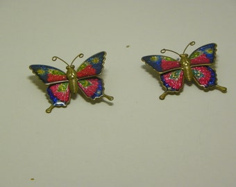 Multi Color Butterfly Pins