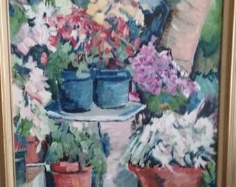 Original Acrylic Painting - CA Garden