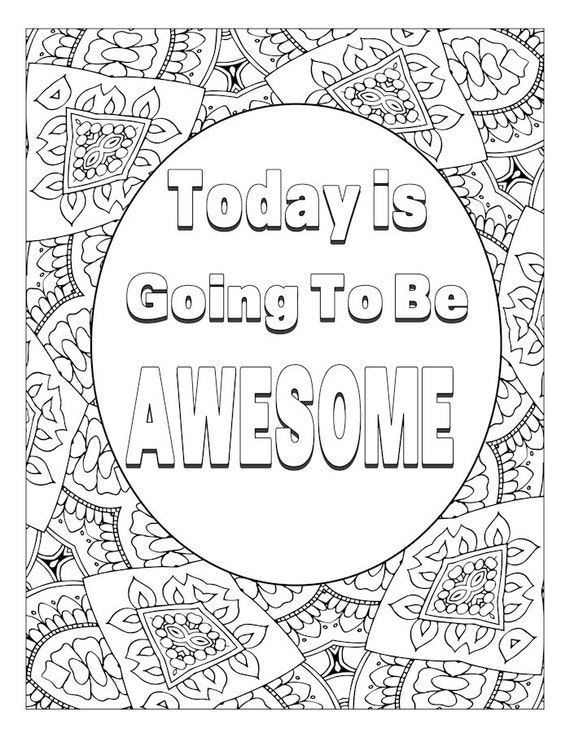 91 Motivational Word Art Coloring Page Inspirational