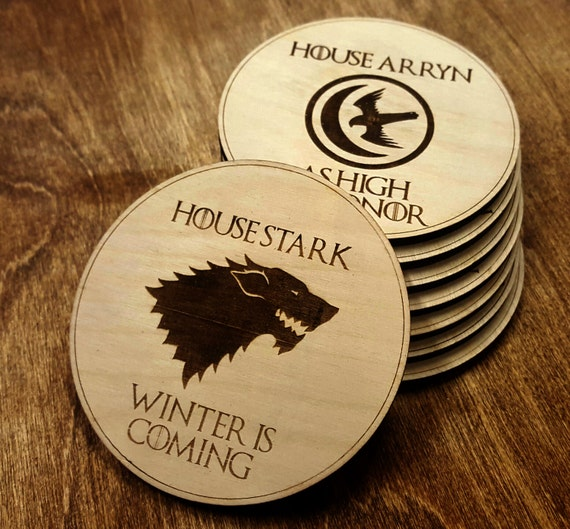 Game of thrones coasters | Etsy