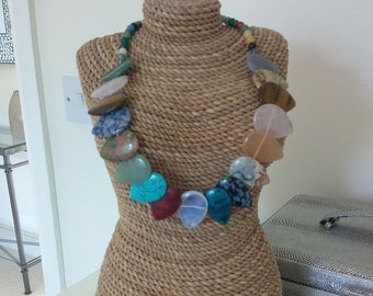 Beautiful necklace with semi precious stones