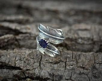 Iolite Silver Ring - Silver Ring - Gemstone Ring - Handmade ring
