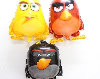Angry Birds balloons set of 3 ballons  . 23 inch aprox. angry birds party decoration big balloons