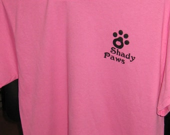 Shady Paws pink t-shirt