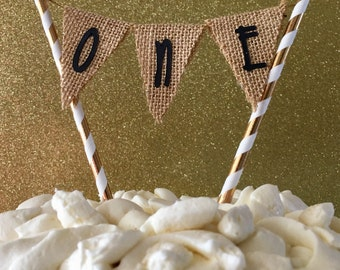Burlap Cake Topper inspired from the book Where the Wild Things are.