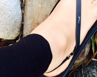 Flip Flop Back Straps - Simplicity Black Sandal Harness - Flip Flops Support - Flip Flops Accessories