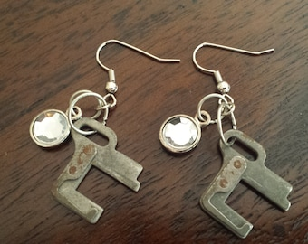 Typewriter Part Earrings