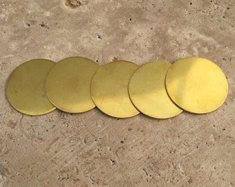 Brass Circle Blanks - 20-Guage Stamping Blanks - Jewelry Making Blanks - Pre-Tumbled Blanks - Deburred Brass Circle Blanks - Brass Shapes