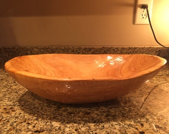Hand Carved Dough Bowl