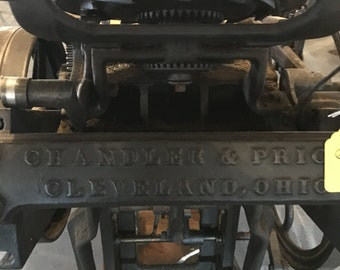 Large Cleveland and Price printing press