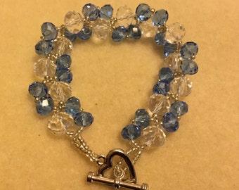 Twist bracelet - blue & clear