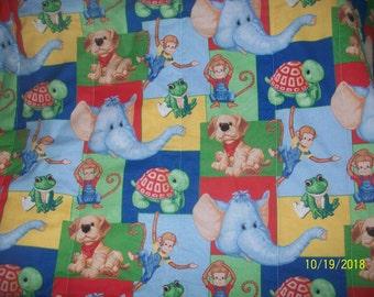 Animal toddler quilt
