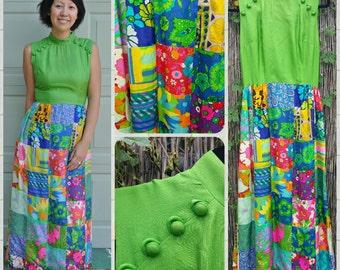 60s Vintage (Keram New York) Hippie Flowerchild Dress
