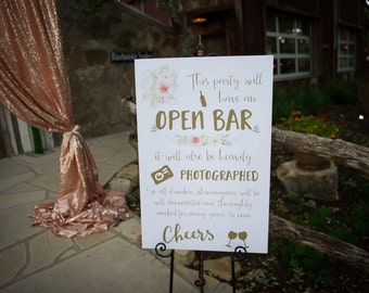 Bar Wedding Sign