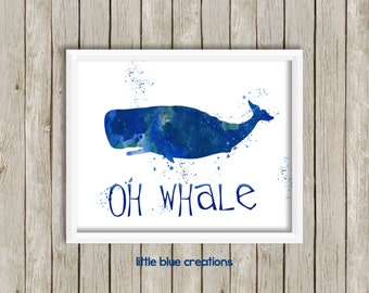Oh Whale - 8x10 Digital Art Print