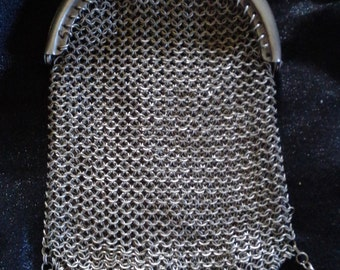 Antique Vintage Sterling Silver 925 Mesh Coin Purse in VGC Free Postage