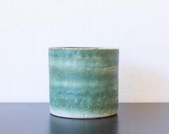 Reserved for Zeinab-Retro green flower pot of ceramics
