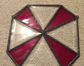 Stained glass bevel window