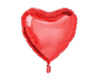 """Red Heart Balloon-18"""" Heart Balloon- Birthday Balloon"""