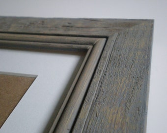 "Rustic frame 10x12"" photo frame picture frame photo distressed frame rustic frame white gray frame crafts woodworking chicframeshop"
