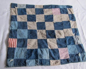 Vintage Folk Art Doll Quilt