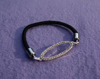 """Silver Stretch """"Oval"""" Bracelet"""