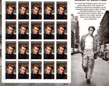Vintage 1996 USPS Stamps, Legends of Hollywood, James Dean,  Mint Condition, MNH, Full Sheet, Ready To Ship