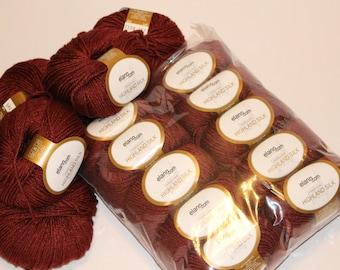 Elann.com collection Peruvian Highland Silk red wool yarn