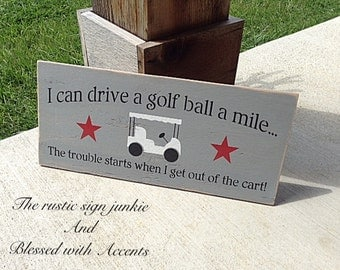 Golf sign, golfing decor, golf gift, golf gifts, man cave decor, man can signs, wood golf sign, wood golf signs, golf gifts