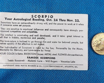 Scorpio Zodiac Vintage Good Luck Collectable Coins/Tokens (Not US Currency)