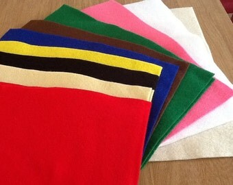 "Felt  Sheet 9x12"" (22x30cm) - FREE UK POSTAGE"
