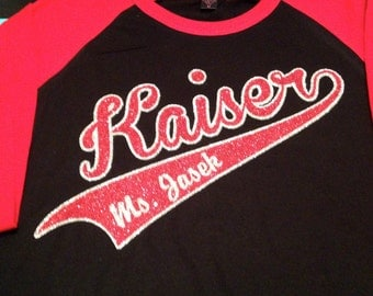 3/4 Baseball School shirt