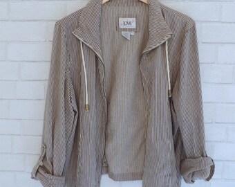 Vintaged Striped Loose-Hanging Jacket
