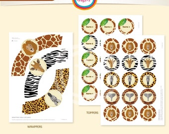 Wrappers and toppers ANIMAL PRINT
