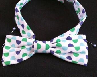 Single bow men's custom made bowtie