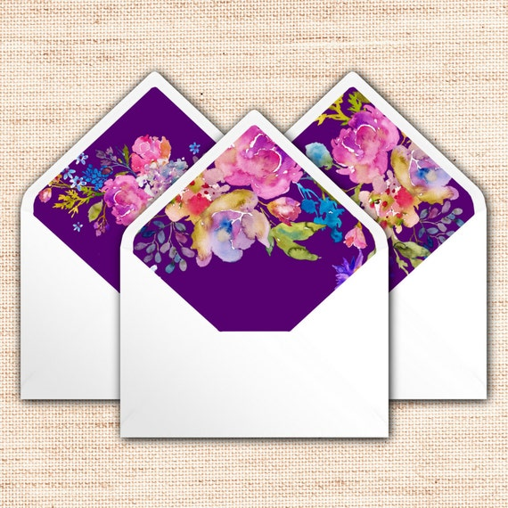 garden envelope liners instant download purple a7