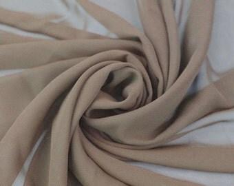 Hi Multi Chiffon Fabric by the Yard - Taupe (LF1)