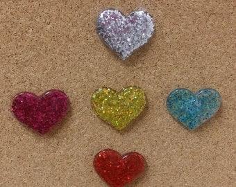 It's a heart thing.Decorative thumb tacks, fabric board tac,, Thumb tacks,push pins, tack pins, bulletin boards.