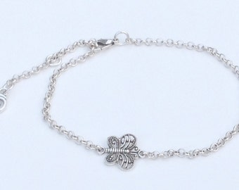 Butterfly chain anklet, ankle bracelet, butterfly anklet