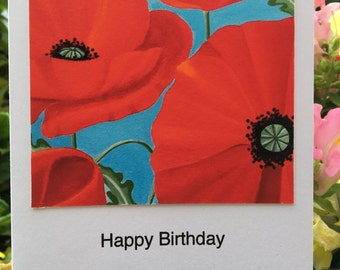 Poppies and Summer Skies Greetings Card
