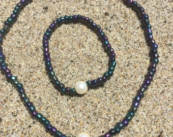 Midnight Beads With Pearl