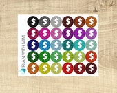 Erin Condren 30 Multi-coloured Glitter Look Dollar Signs Icons