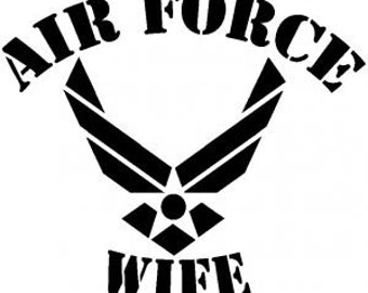 Downloadable Air Force Wife SVG