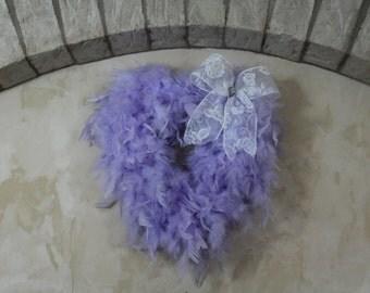 Purple Feather Wreath