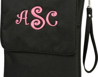 Monogrammed Padded I-Pad Case - Black
