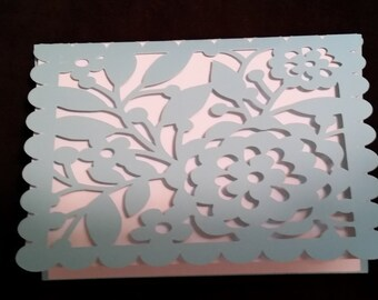 Lace overlay note card